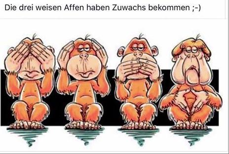 drei wiese Affen